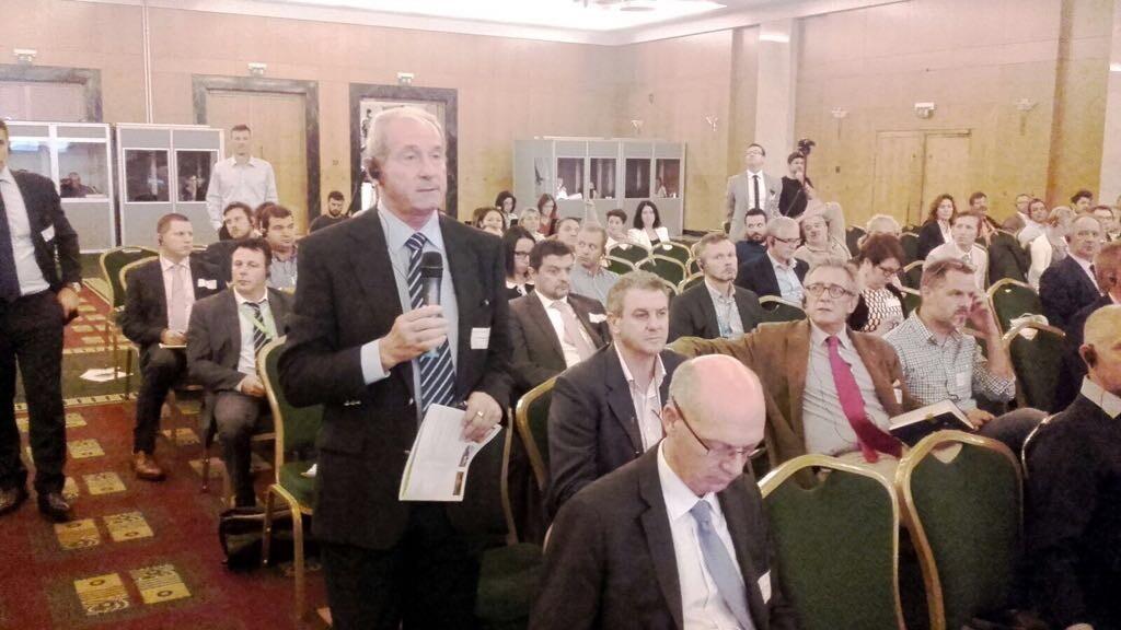 Intervención del presidente de AVA-ASAJA, Cristóbal Aguado, durante el Congreso del Copa-Cogeca, que representa a las organizaciones agrarias y cooperativas de la Unión Europea, celebrado hoy en Atenas.