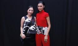 OCTOBER 22: Models pose backstage during the Indonesia Fashion Forward Designers 2 show at Jakarta Fashion Week 2017 in Senayan City, Jakarta.