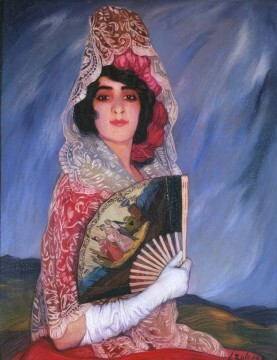 ignacio-zuloaga-mi-prima-candida-con-mantilla-1913
