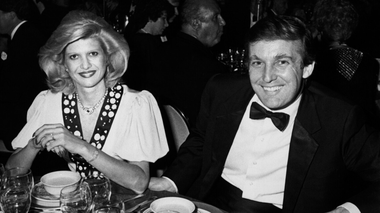 NEW YORK CITY - MAY 10:  Ivana Trump and Donald Trump attend 38th Annual Horatio Alger Awards Dinner on May 10, 1985 at the Waldorf Hotel in New York City. (Photo by Ron Galella/WireImage)
