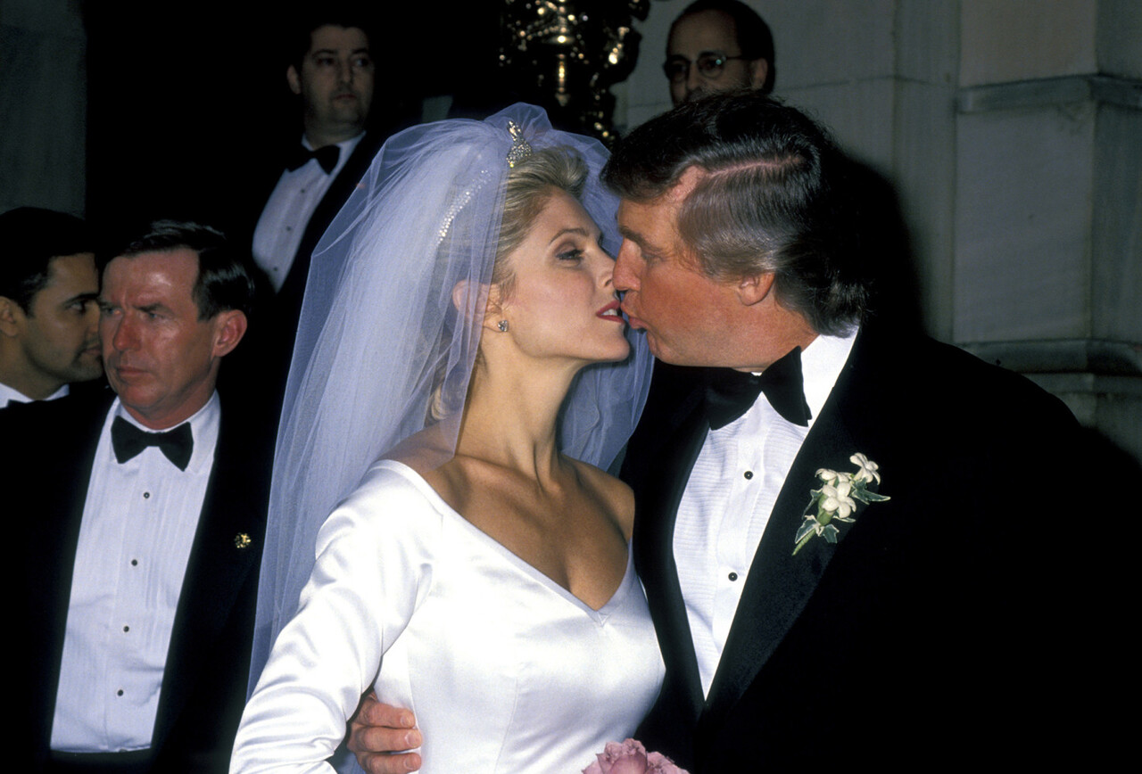 Donald Trump and Marla Maples during The Wedding of the Year: Mr. Trump Takes Another Gamble at Plaza Hotel in New York City, New York, United States. (Photo by Ron Galella/WireImage)