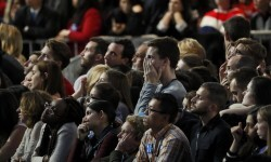 Supporters of U.S. Democratic presidential nominee Hillary Clinton react at her election night rally in Manhattan, New York, U.S., November 8, 2016.   REUTERS/Shannon Stapleton