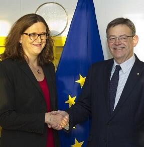 el-jefe-del-consell-ha-mantenido-una-reunion-de-trabajo-con-la-comisaria-europea-de-comercio-cecilia-malstrom