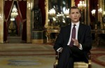 Spain's King Felipe VI delivers his traditional Christmas address at Royal Palace in Madrid December 22, 2015. Picture taken December 22, 2015. REUTERS/Angel Diaz/Pool