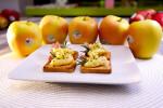 tosta-crema-manzana-jamon