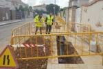 Aigües de l'Horta renueva la red de agua potable en la calle Banda de Música del Círculo Católico en Torrent.