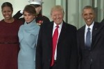 Donald Trump llega a la Casa Blanca para su investidura como nuevo presidente de los EE.UU.