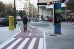Entra en servicio el nuevo carril bici de la calle Clariano.