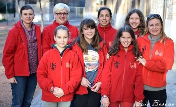 Foto del equipo instantes antes de la competición. (Foto-Luis Barona).