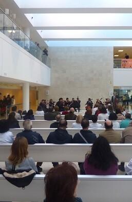 La Orquesta de Valencia en el Hospital La Fe.