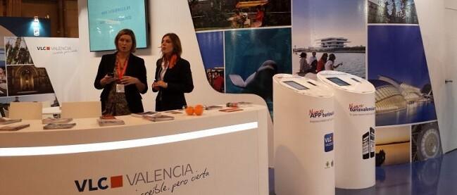 La presidenta de Turismo Valencia, Sandra Gómez, ha presentado la promoción de la ciudad que ha preparado para la feria FITUR que comienza mañana.