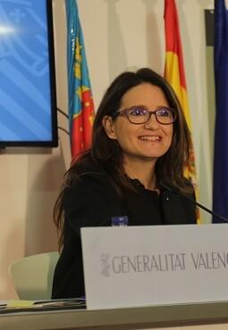 Mónica Oltra, vicepresidenta y portavoz del Consell.