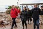 Puig reclama a Costas inversiones urgentes para proteger la playa de Almenara.