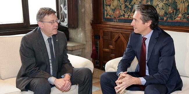 Puig se reunió con el ministro de Fomento.