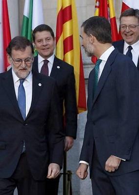 Rajoy en la presentación de la reunión.