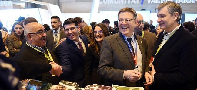 Rodríguez, Oltra y Puig en Fitur 2017. (Foto-Abulaila).