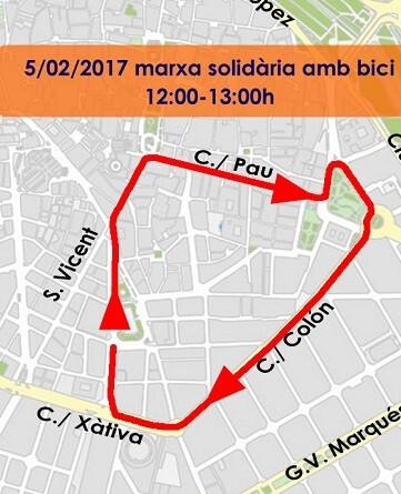 También se celebra una marcha solidaria en bicicleta.