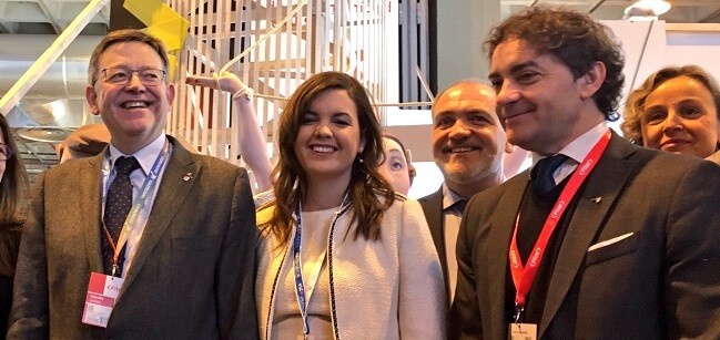 Ximo Puig, Sandra Gómez y Colomer.