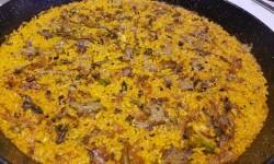 arroz de pato confitado,con boletus miqui y ajetes y al aroma de Foie gras micuit arroceria la plaza (117)