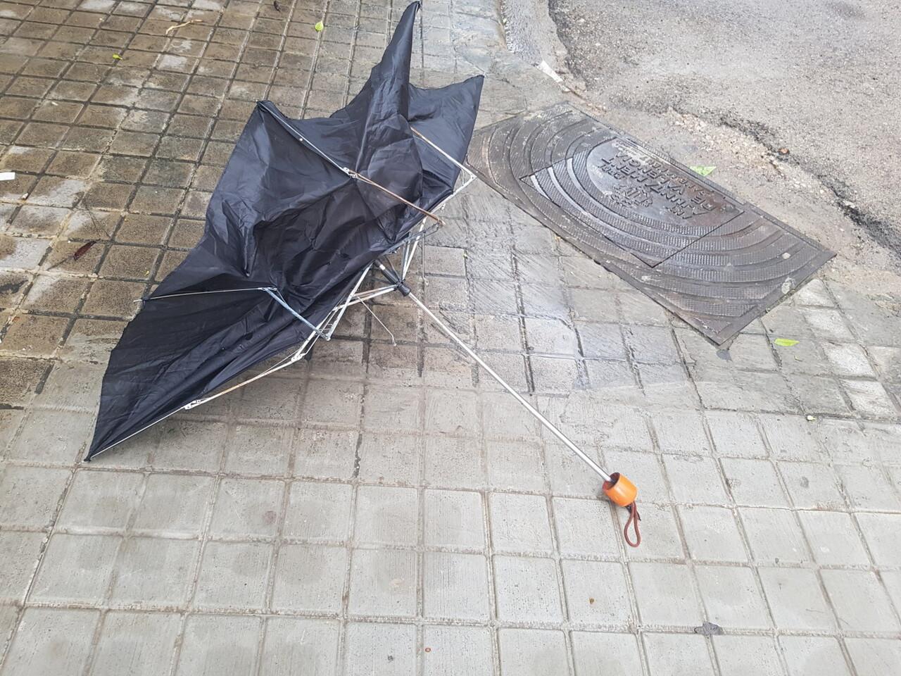 lluvia paraguas viento temporal (9)