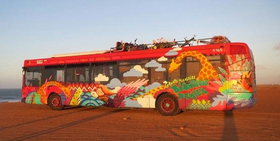 Autobús donado por la EMT.