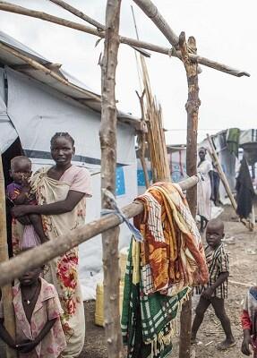 Campamento de Protección de Civiles de la ONU en Malakal, Sudán del Sur. (Foto OIM-Bannon)