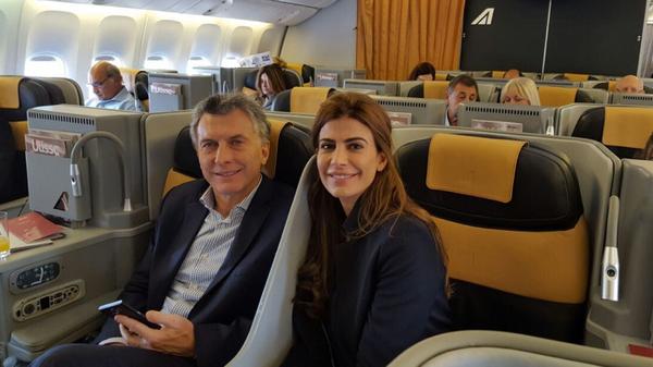 El Presidente con Juliana Awada