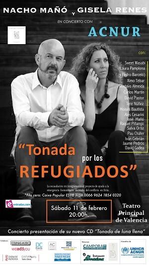 Cartel Concierto 'Tonada por los Refugiados'.