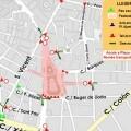Cortes de tráfico el domingo en la Plaza del Ayuntamiento y en la Plaza de la Crida y sus respectivos alrededores.