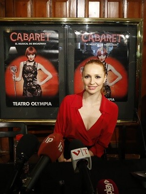 Cristina Castaño en la presentacion del musical en Valencia. (Foto-Manuel Molines).