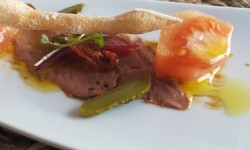 Dados de tomate valenciano (Raf) con pato marinado (4)
