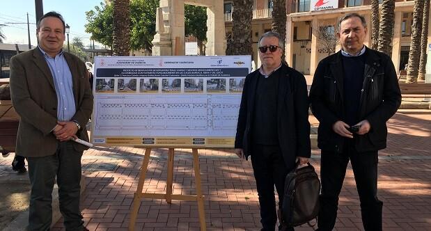 El concejal Vicent Sarrià ha visitado la zona y ha manifestado su satisfacción por el inicio de las obras.