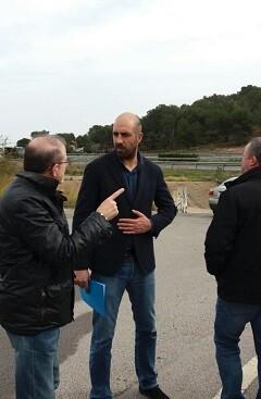 El diputado de Carreteras, Pablo Seguí, en su visita a Sagunto.