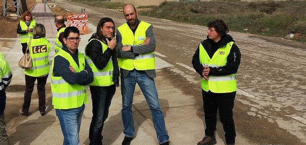 El diputado de Carreteras, Pablo Seguí, visitando algunas de las obras en la demarcación de l'Alcúdia.
