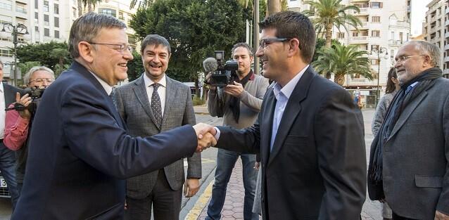 El presidente de la Diputación de Valencia, Jorge Rodríguez, y el de la Generalitat, Ximo Puig.