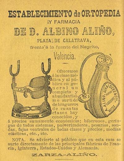 Farmacia Aliño. 1883.