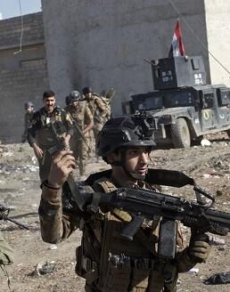 Fuerzas militares iraquíes.