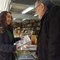 Glòria Tello inaugura la Feria del Libro Antiguo y de Ocasión en la Gran Vái del Marqués del Túria.