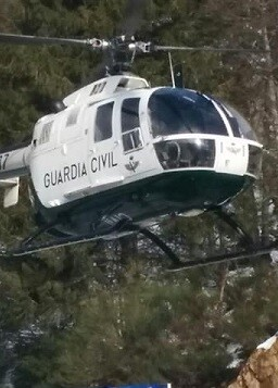 Helicóptero de salvamento de la Guardia Civil.