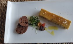 Lingote de foie micuit, hígado de pato graso semicocido y manzana caramelizada (4)