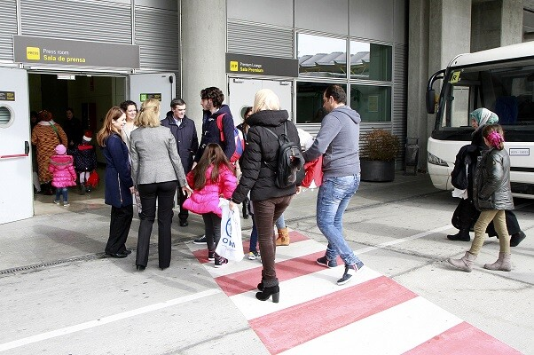 Llegan a España 66 refugiados, 65 de nacionalidad siria y 1 iraquí, procedentes de Grecia.