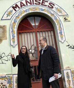 Mª Josep Amigó en su visita a Manises. (Foto-Abulaila).