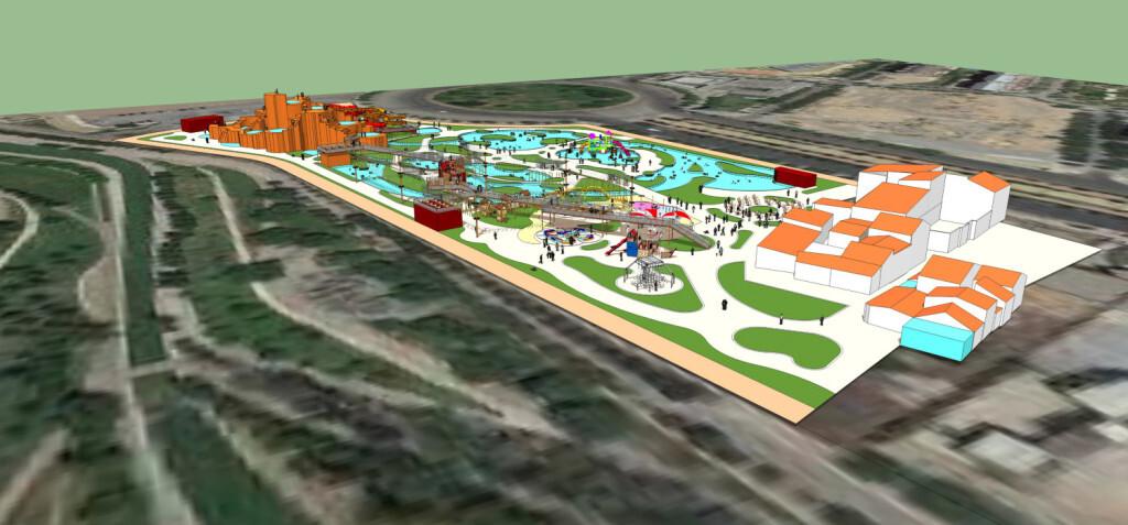 Plano alzado proyecto RAIN FOREST Valencia
