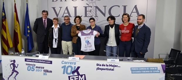 Primera prueba de 10.000 metros de categoría femenina de España.