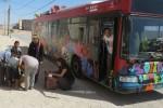 Un autobús donado por la EMT con material escolar llega a Malí.
