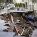 Una potente tromba de agua y granizo provoca graves destrozos en Málaga.