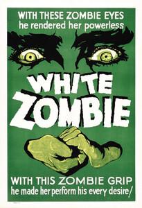 Cartel de la primera película en la que aparece un zombi, en 1932.