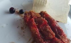 """postre """"magret de pato"""", una torrija cortada al bies (5)"""