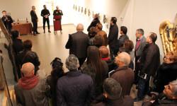 Ambiente general durante la presentación del artista con Alex Villar y Pere Blanco