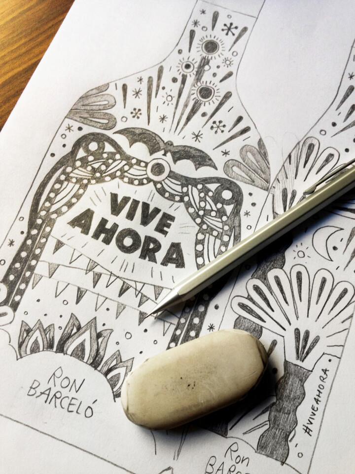 Boceto Ron Barceló Ed. Limitada Fallas .- Malota